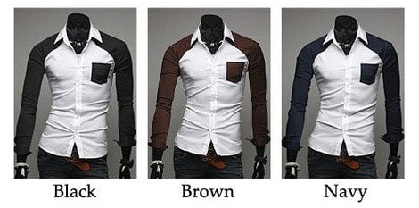 Sleeve Patch Pocket Long Sleeve Shirts - Casual Shirts - eDealRetail - 6