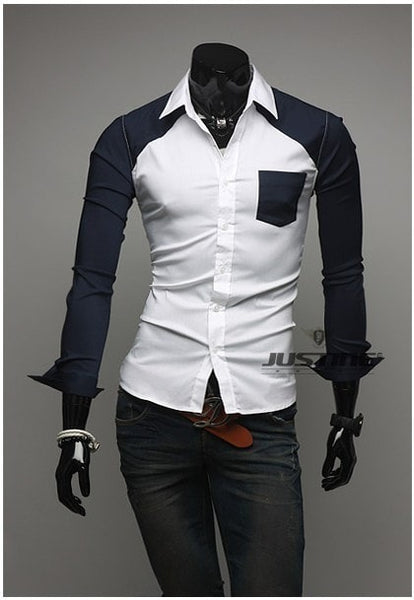Sleeve Patch Pocket Long Sleeve Shirts - Casual Shirts - eDealRetail - 7