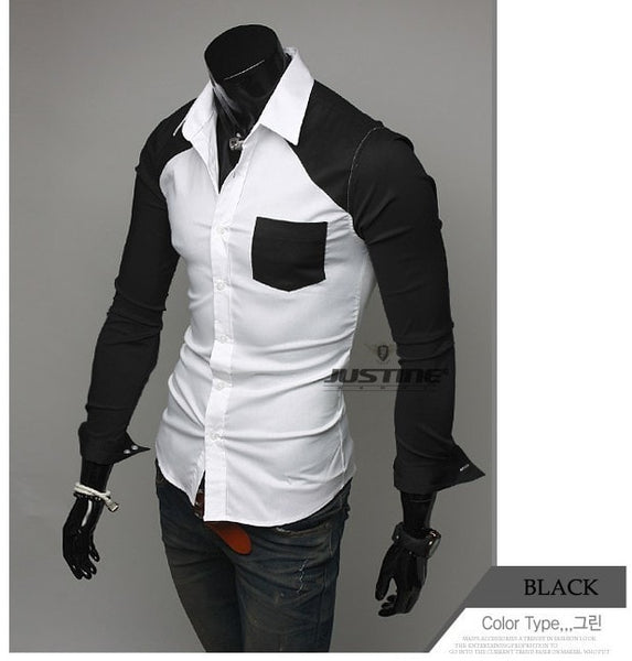 Sleeve Patch Pocket Long Sleeve Shirts - Casual Shirts - eDealRetail - 8