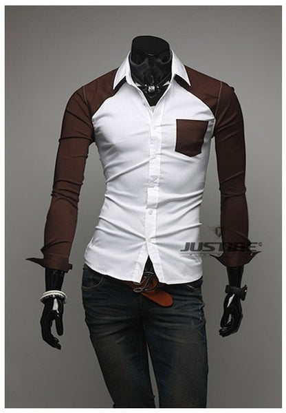 Sleeve Patch Pocket Long Sleeve Shirts - Casual Shirts - eDealRetail - 9