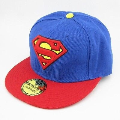 Blue Superman Adjustable Snapback Hat - Hats - eDealRetail - 1