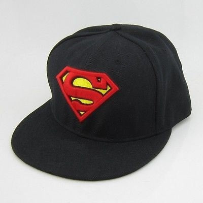 Black Superman DC Comics Snapback Hat - Hats - eDealRetail - 1