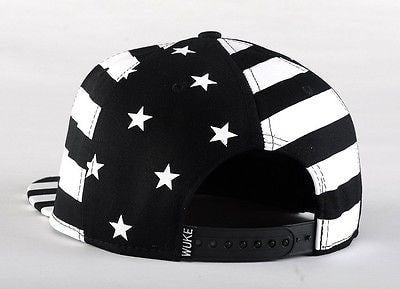 USA American Flag Adjustable Black Snapback - Hats - eDealRetail - 4