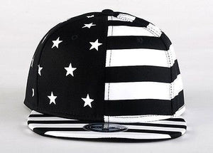 USA American Flag Adjustable Black Snapback - Hats - eDealRetail - 2