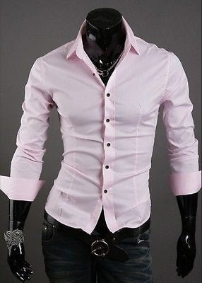 Formal Shirts For Men - 10 Color Casual Dress Shirts - Dress Shirts - eDealRetail - 4