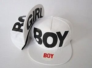 Boy/Girl White Adjustable Snapback Hat - Hats - eDealRetail - 1