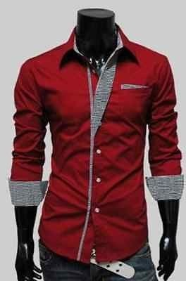 Mens Long Sleeve Formal Fitted Dress Shirts - Dress Shirts - eDealRetail - 3