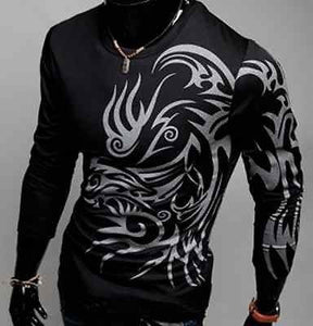 Tattoo Shirts For Men - Casual Shirts - eDealRetail - 2