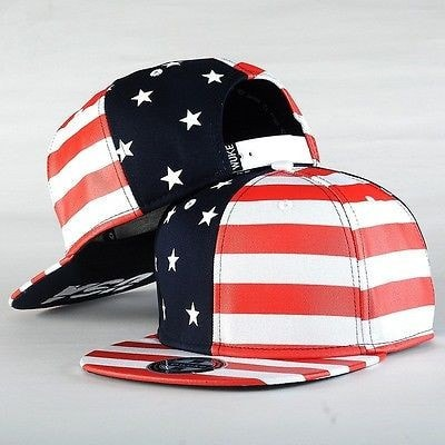 USA American Flag Adjustable Snapback Hat - Hats - eDealRetail - 1