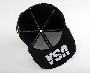 USA American Flag Adjustable Black Snapback - Hats - eDealRetail - 5