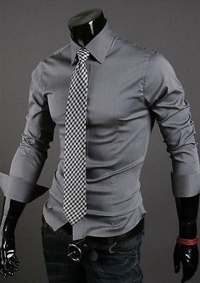Formal Shirts For Men - 10 Color Casual Dress Shirts - Dress Shirts - eDealRetail - 12