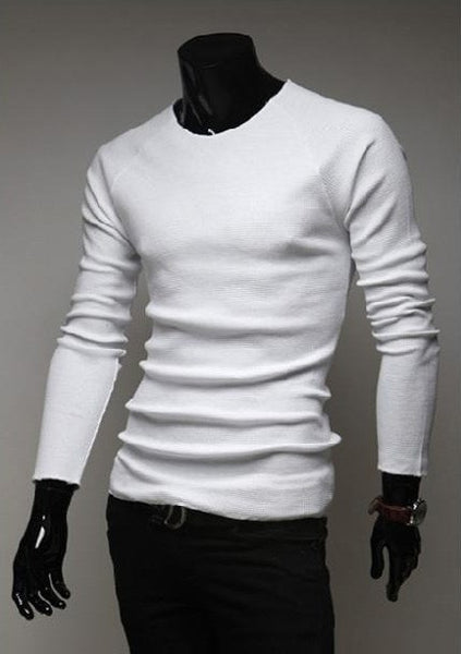 Slim O-Neck Long-Sleeve Sweater - sweater - eDealRetail - 2