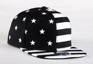 USA American Flag Adjustable Black Snapback - Hats - eDealRetail - 3