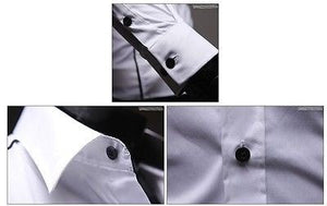 Slim Fit Long Sleeve Dress Shirts - Dress Shirts - eDealRetail - 8