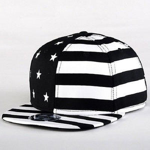 USA American Flag Adjustable Black Snapback - Hats - eDealRetail - 1