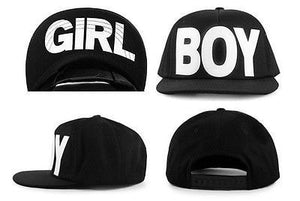 Boy/Girl Black Adjustable Snapback Hat - Hats - eDealRetail - 3