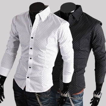 Stylish Park Dot Dress Shirts - Casual Shirts - eDealRetail - 1
