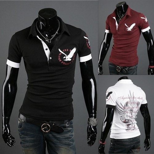 Men's Short Sleve Polo Shirts - Casual Shirts - eDealRetail