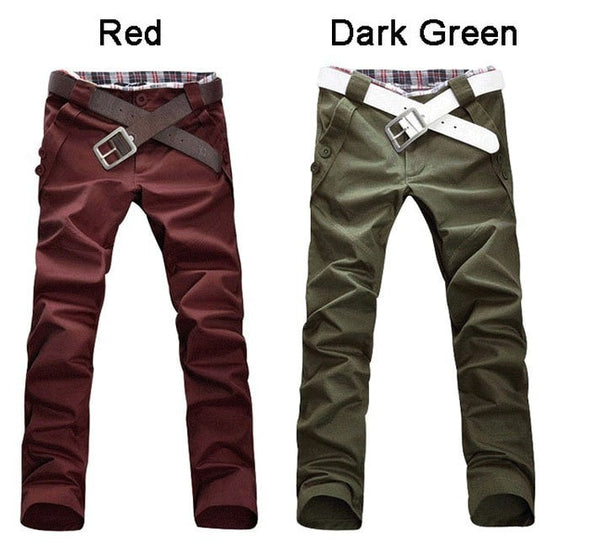 Men's Stylish Straight Slim Fit Casual Trousers - Stylish Pants - eDealRetail - 2