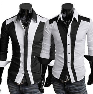 Tuxedo Print Design Stylish Dress Shirts - Casual Shirts - eDealRetail - 1