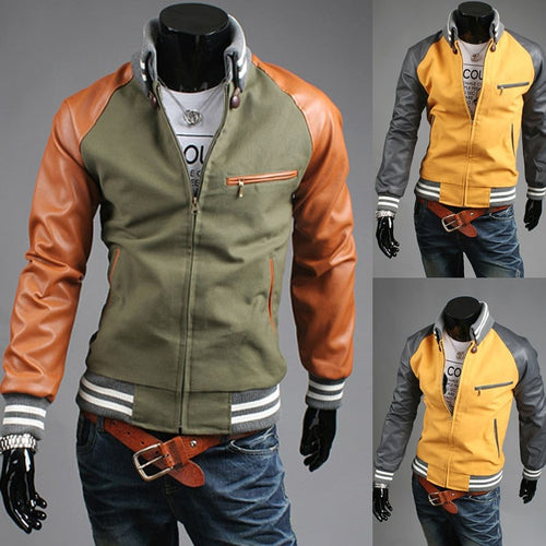 Fashionable Varisty Collar Jacket - Winter Coats - eDealRetail - 1