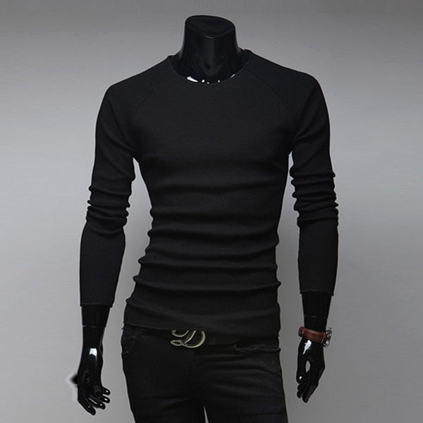 Slim O-Neck Long-Sleeve Sweater - sweater - eDealRetail - 9