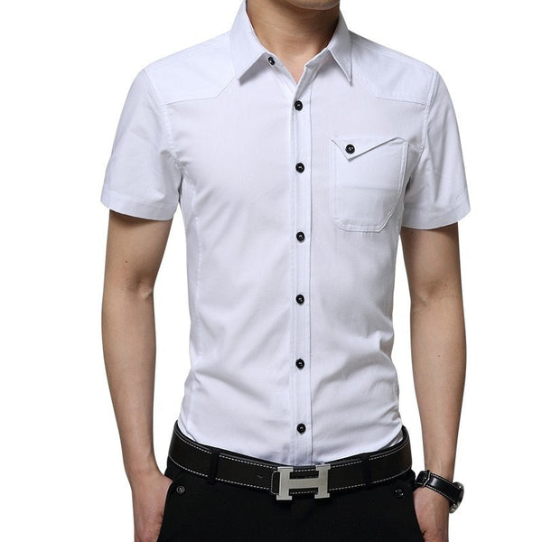2016 Short Sleeve Pocket Casual Shirt - Casual Shirts - eDealRetail - 3