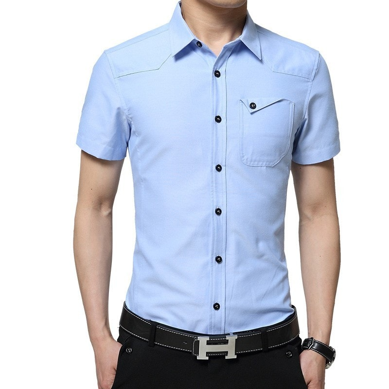 2016 Short Sleeve Pocket Casual Shirt - Casual Shirts - eDealRetail - 1
