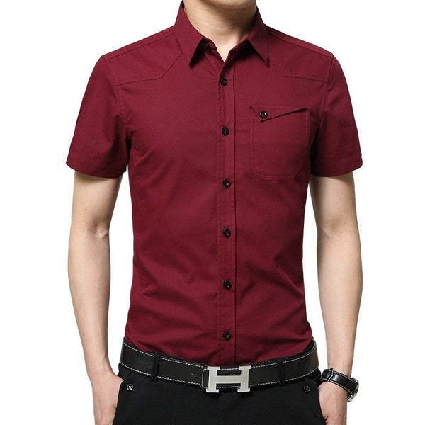 2016 Short Sleeve Pocket Casual Shirt - Casual Shirts - eDealRetail - 2