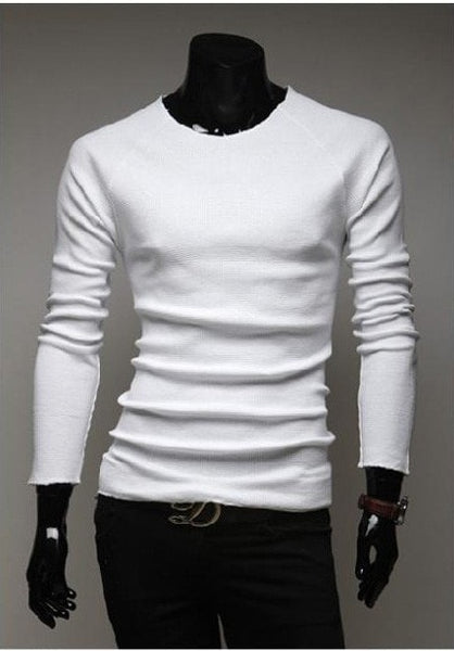 Slim O-Neck Long-Sleeve Sweater - sweater - eDealRetail - 3