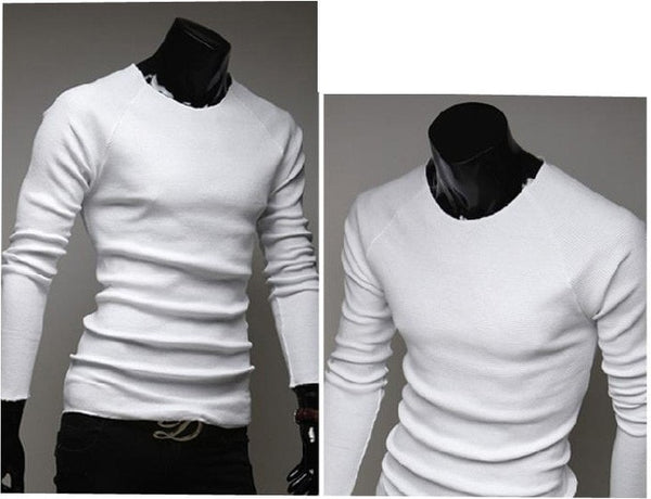 Slim O-Neck Long-Sleeve Sweater - sweater - eDealRetail - 4