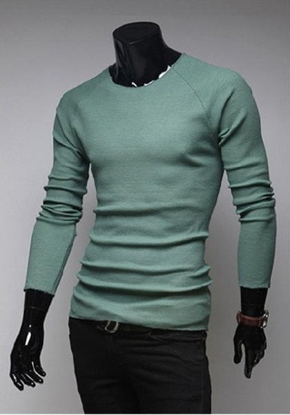 Slim O-Neck Long-Sleeve Sweater - sweater - eDealRetail - 5
