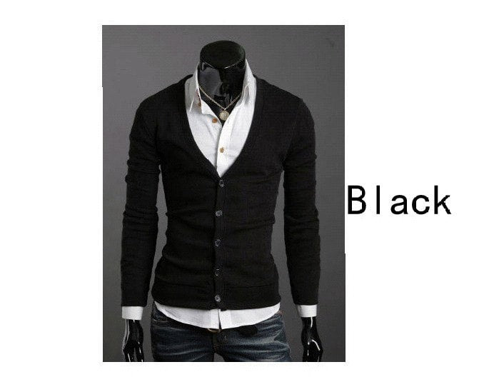 Men's Knitwear Slim Casual Fleece Sweater - sweater - eDealRetail - 2