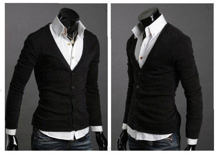 Men's Knitwear Slim Casual Fleece Sweater - sweater - eDealRetail - 3