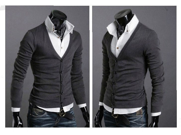 Men's Knitwear Slim Casual Fleece Sweater - sweater - eDealRetail - 5