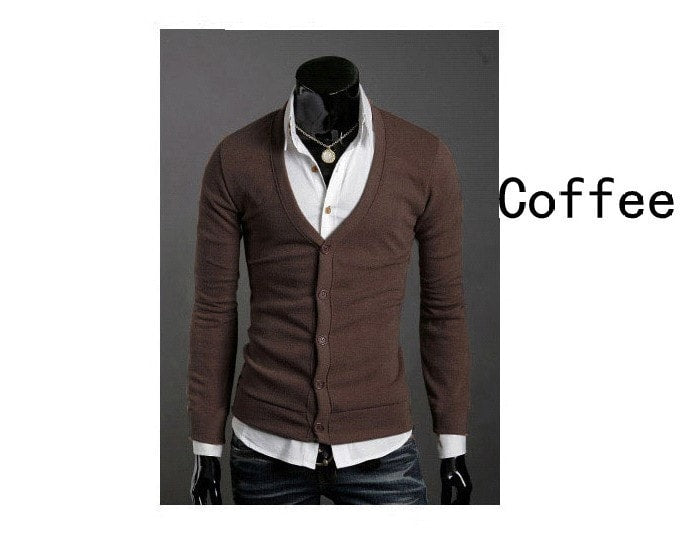 Men's Knitwear Slim Casual Fleece Sweater - sweater - eDealRetail - 6