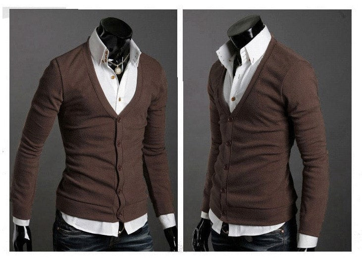 Men's Knitwear Slim Casual Fleece Sweater - sweater - eDealRetail - 7