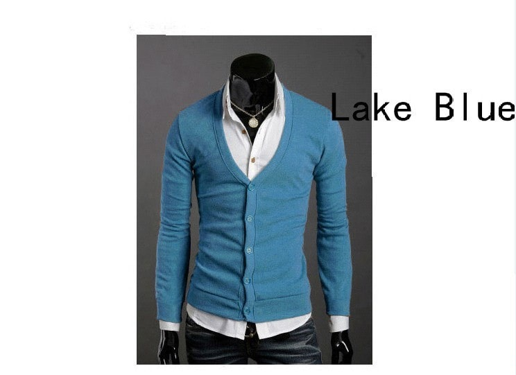 Men's Knitwear Slim Casual Fleece Sweater - sweater - eDealRetail - 8