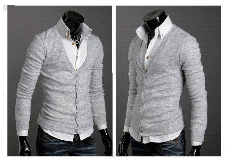 Men's Knitwear Slim Casual Fleece Sweater - sweater - eDealRetail - 11