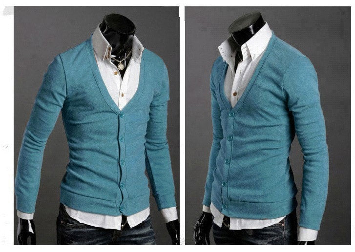 Men's Knitwear Slim Casual Fleece Sweater - sweater - eDealRetail - 13
