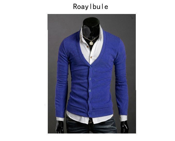 Men's Knitwear Slim Casual Fleece Sweater - sweater - eDealRetail - 14