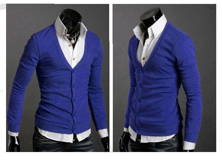 Men's Knitwear Slim Casual Fleece Sweater - sweater - eDealRetail - 15