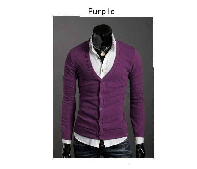 Men's Knitwear Slim Casual Fleece Sweater - sweater - eDealRetail - 16