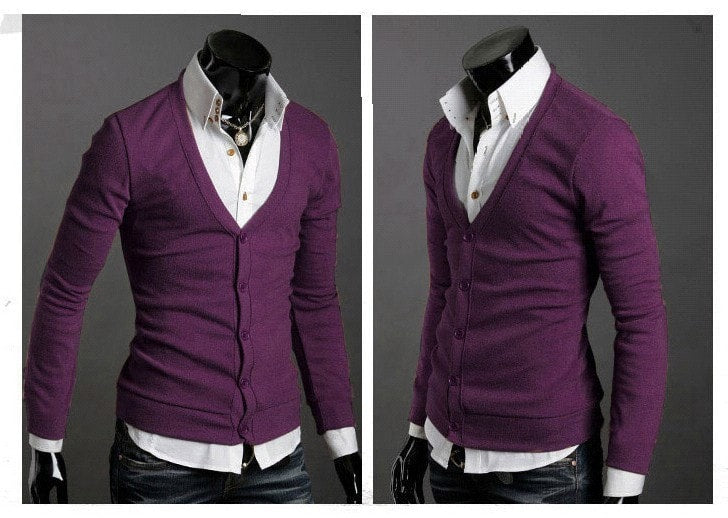 Men's Knitwear Slim Casual Fleece Sweater - sweater - eDealRetail - 17