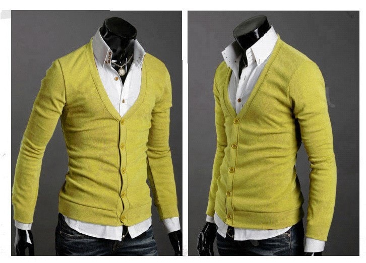 Men's Knitwear Slim Casual Fleece Sweater - sweater - eDealRetail - 19