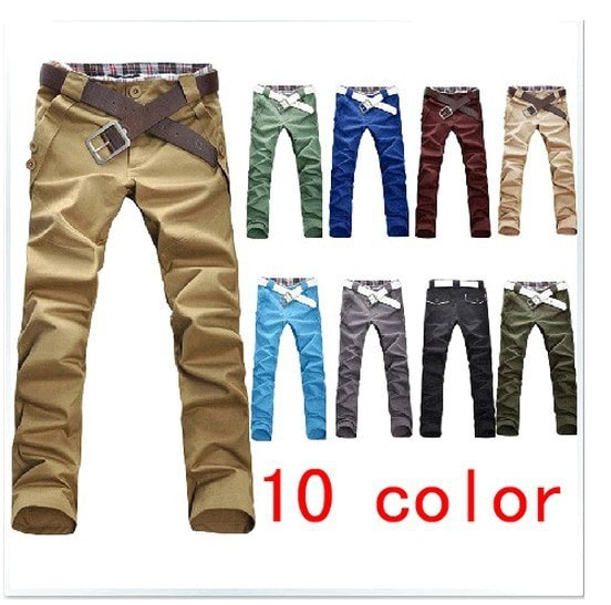 Men's Stylish Straight Slim Fit Casual Trousers - Stylish Pants - eDealRetail - 1