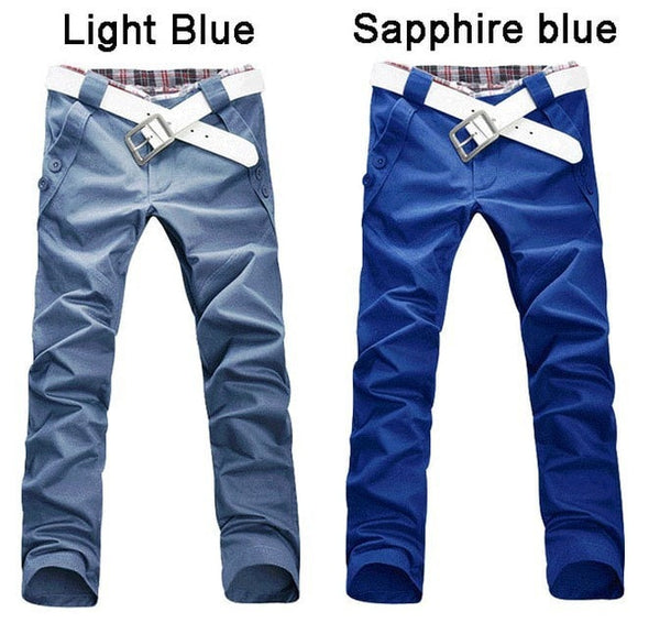 Men's Stylish Straight Slim Fit Casual Trousers - Stylish Pants - eDealRetail - 4