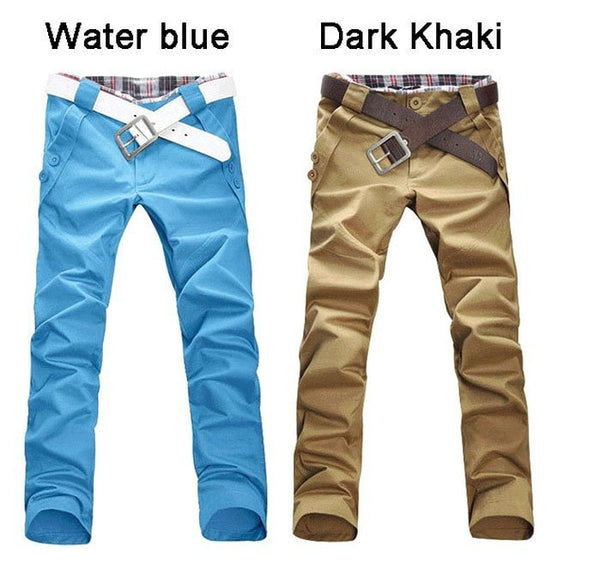 Men's Stylish Straight Slim Fit Casual Trousers - Stylish Pants - eDealRetail - 5