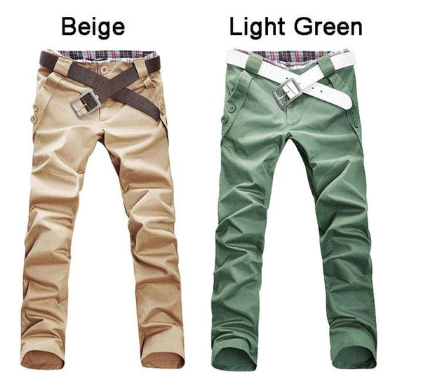 Men's Stylish Straight Slim Fit Casual Trousers - Stylish Pants - eDealRetail - 6