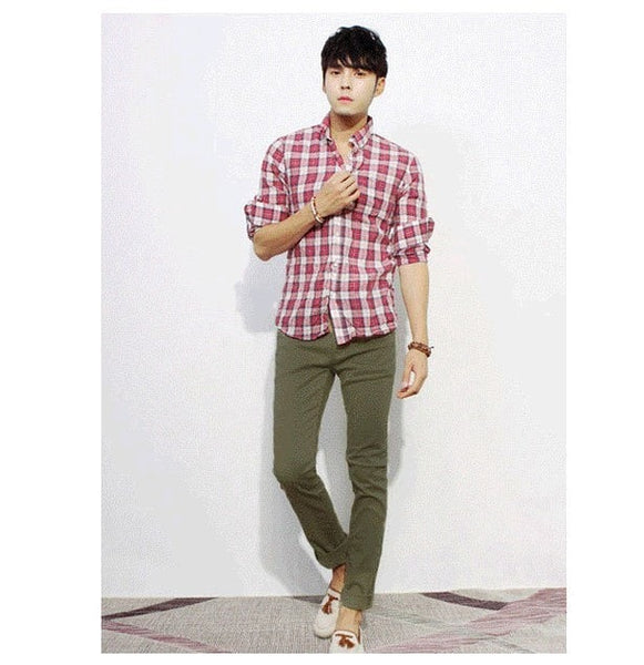 Men's Stylish Straight Slim Fit Casual Trousers - Stylish Pants - eDealRetail - 9